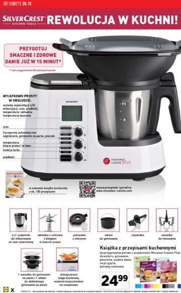 Wielofunkcyjne urządzenie Monsieur Cuisine PLus - 9 w 1 (Lidlowy Thermomix!) za 888zł @ Lidl