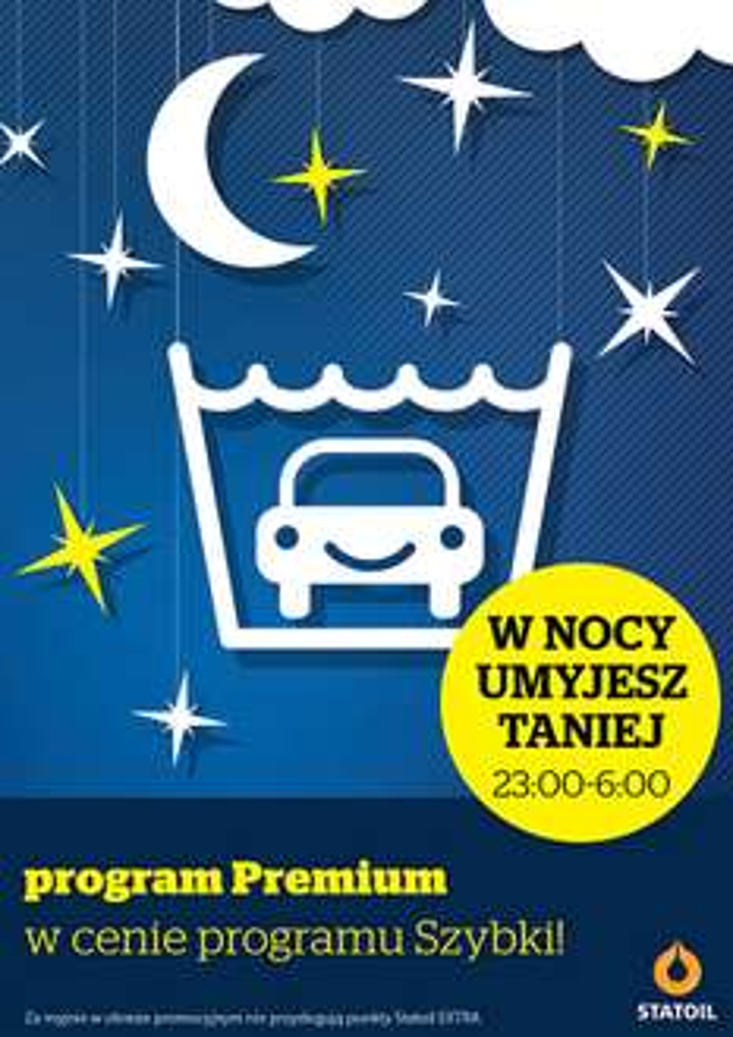 Program Premium w cenie Programu Szybki na nocnej myjni @ statoil