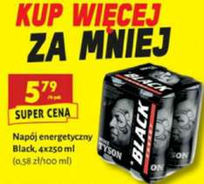4pack (4x250ml) energetyka Black za 5.79 BIEDRONKA