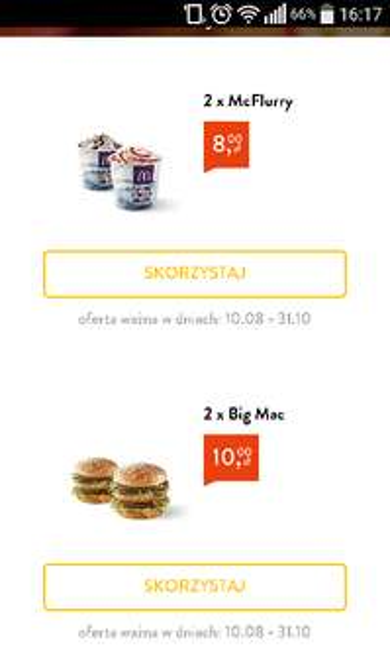 2x Big Mac 10PLN 2x McFlurry 8PLN @McD Złote Tarasy (W-wa)