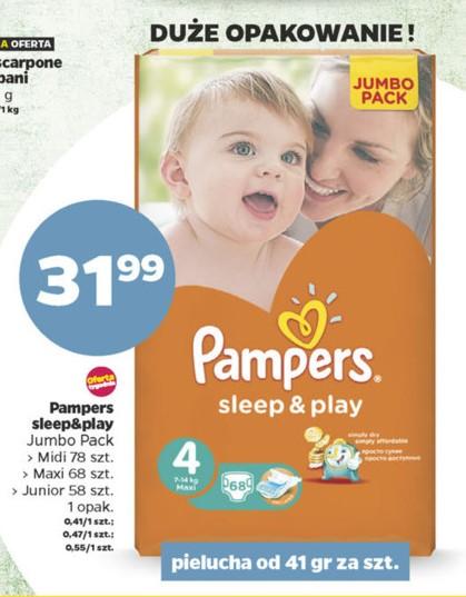 Pieluszki Pampers Sleep&Play Jumbo Pack za 31,99zł @ Netto
