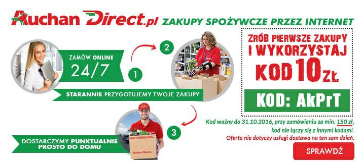 Kupon 10 zł za pierwsze zakupy @Auchan Direct