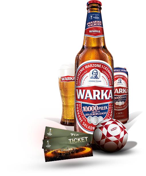 Biało-czerwona piłka za 30 kodów (spod kapsli lub zawleczek) @ Warka