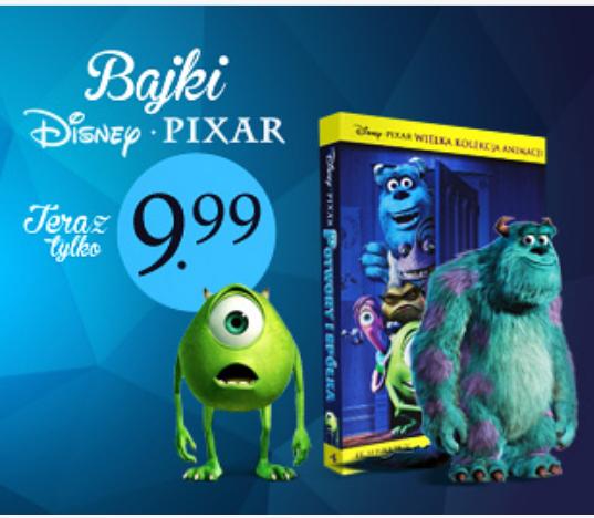 """Bajki na DVD """"Auta""""/""""Toy Story"""" / """"Toy Story2"""" po 9,99zł @ inbook"""