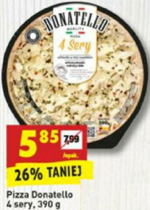 Pizza Donatello 4 sery 390g za 5.85 BIEDRONKA