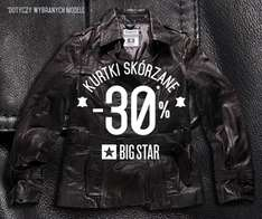 30% rabatu na kurtki skórzane @ Big star