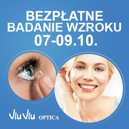 Bezpłatne badanie wzroku (Katowice, Bydgoszcz, Gdańsk) @ Soczewki24.pl/Viu Viu Optica