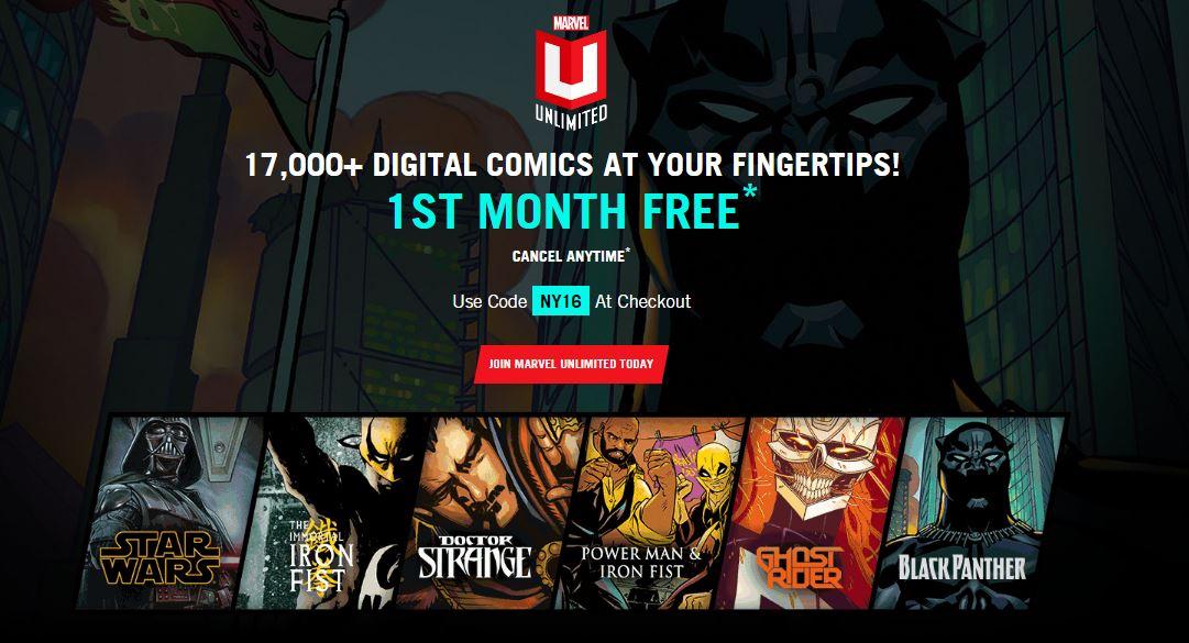 30 dniowy dostęp do 17000 komiksów za darmo @ Marvel Unlimited