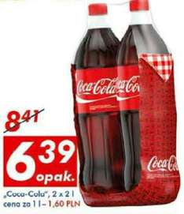 Coca Cola 2x2l za 6.39 AUCHAN