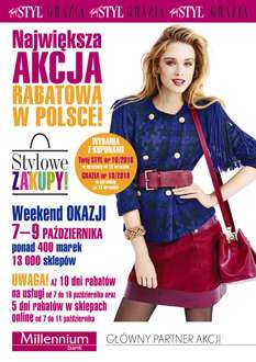 Weekend zniżek TWÓJ STYL/GRAZIA 7-9 października