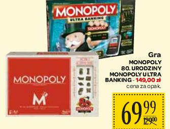 Gry Monopoly 80 urodziny za 69,99zł @ Carrefour