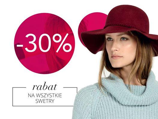 -30% na wszystkie swetry @ Camaieu