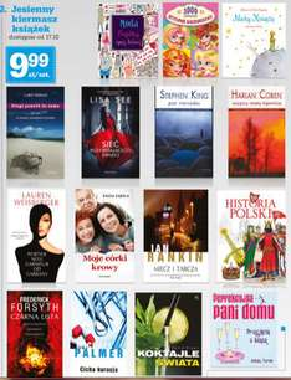 """Jesienny festiwal książek: """"Moje córki krowy"""", książki H.Cobena, S.Kinga za 9,99zł @ Biedronka"""