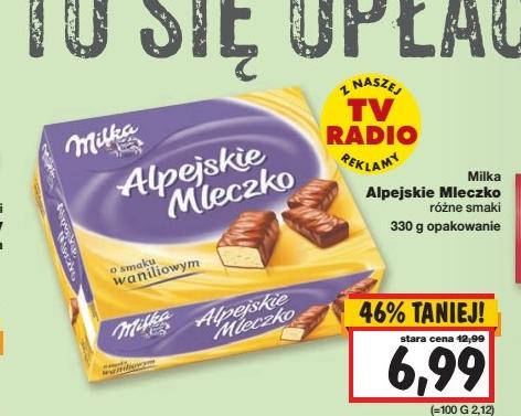 Alpejskie Mleczko Milka w cenie 6,99zł @ Kaufland