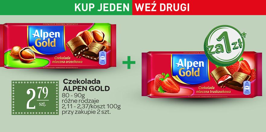 Druga czekolada Alpen Gold za 1zł @ Carrefour