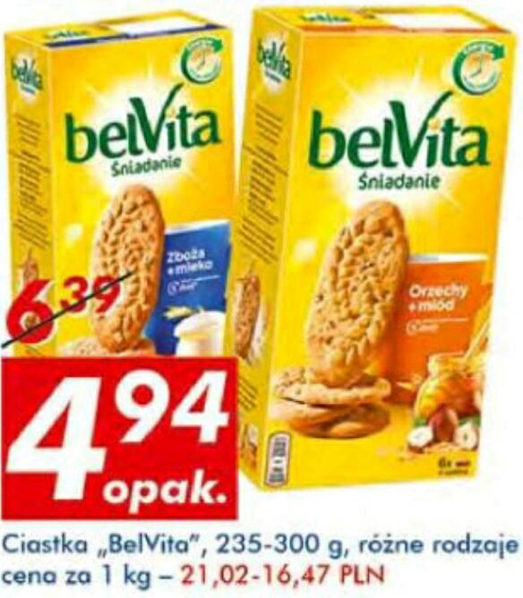 Ciastka BelVita 4.94zł AUCHAN