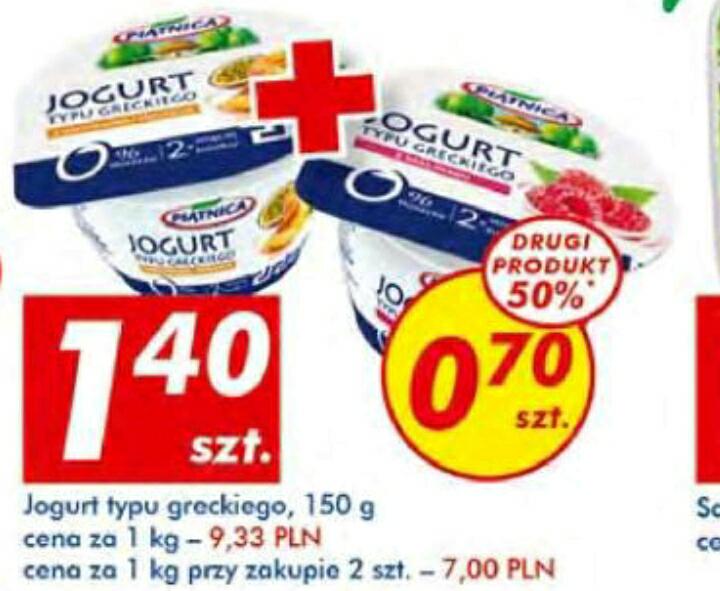 Jogurt typu greckiego Piątnica 150g 1.05zł przy zakupie 2szt.  AUCHAN