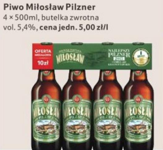 Miłosław Pilzner 4 x 500ml za 10zł @ Tesco