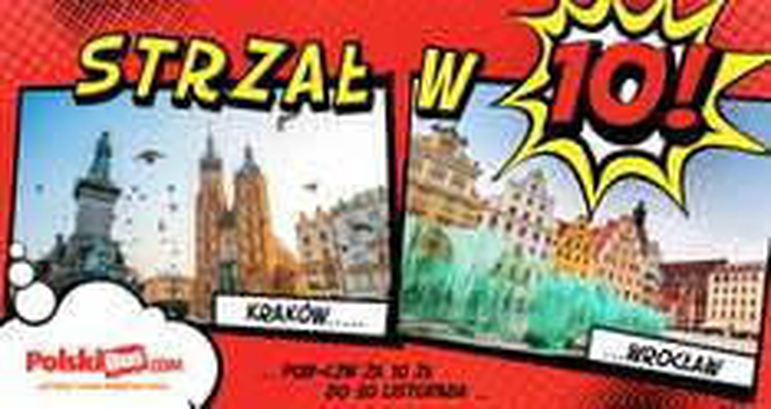 Polski Bus, Wrocław-Kraków 10 zł+ 1 zł opłaty rezerwacyjnej