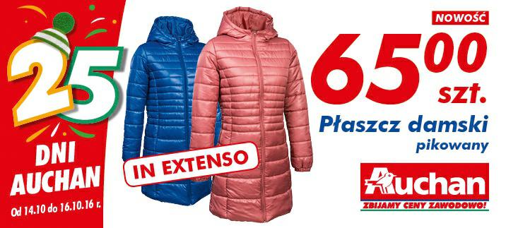 Płaszcz damski pikowany szt @Auchan