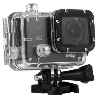 Kamerka sportowa GitUp Git2 2K WiFi z wodoodpornym case'm i mocowaniem