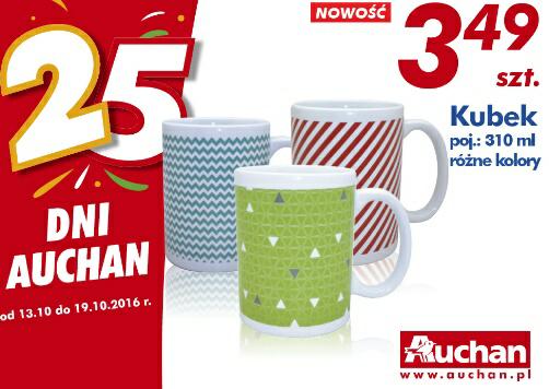 Kubek 310 ml różne kolory szt @Auchan