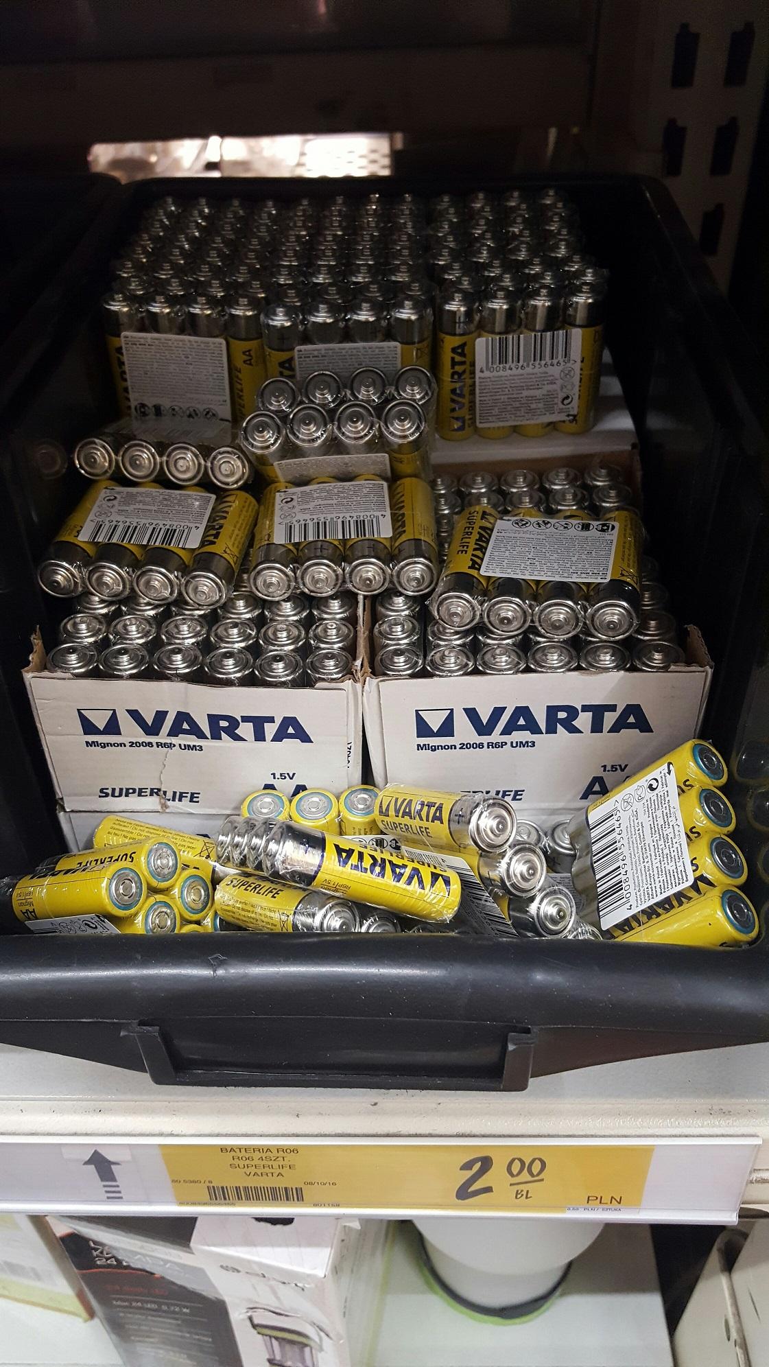 Baterie VARTA R06 (AA) SuperLife CZTERY SZTUKI za 2zł Castorama