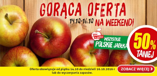 50% taniej wszystkie jabłka @Biedronka