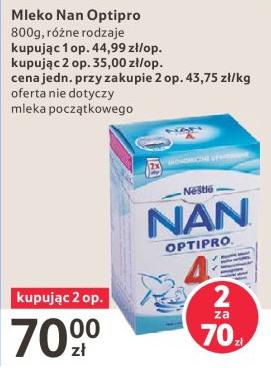 Mleko Nestle NAN 800g za 35zł @ Tesco