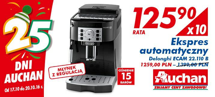 Ekspres automatyczny Delonghi ECAM 22.110 B @Auchan