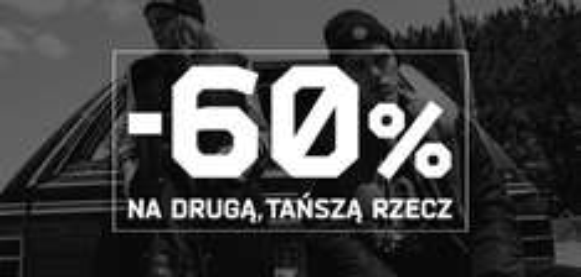 Rabat 60% na drugi produkt @ Cropp