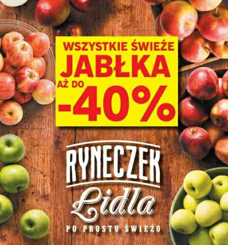 Wszystkie świeże jabłka do -40% @Lidl