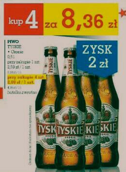 4 piwa Tyskie