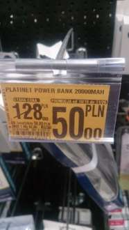 PLATINET POWER BANK 20000MAH za 50zł @Auchan