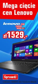 Laptop Lenovo G500S (15,6',i3, 1TB dysk, 4GB ram, grafika GeForce 720T 2GB) za 1529zł z wysyłką! @ Redcoon