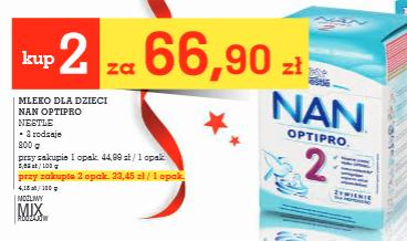 Mleko Nestle NAN 2x800g za 66,90zł @ Intermarche