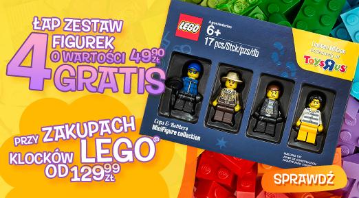 Zestaw 4 figurek o wartości 49,99zł do zakupu LEGO za minimum 129,99zł @ Toys'R'Us