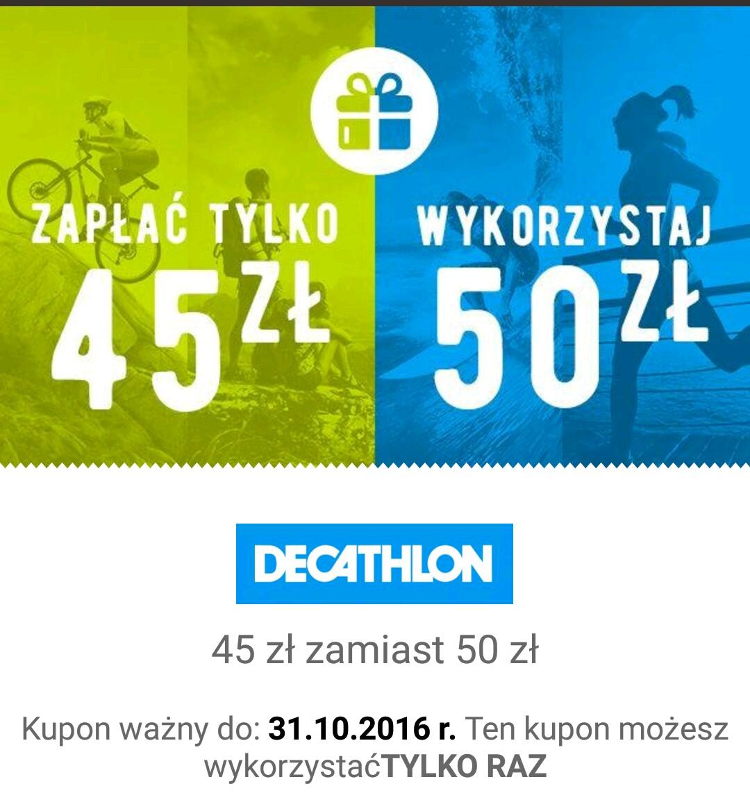 QPONY: Voucher o wartości 50zł do Decathlonu za 45zł