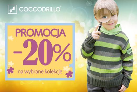 Promocja -20% na wybrane kolekcje a także na bieliznę niemowlęcą w sklepie internetowym Coccodrillo