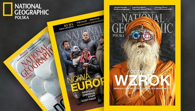Prenumerata National Geographic 3 numery z wysyłką