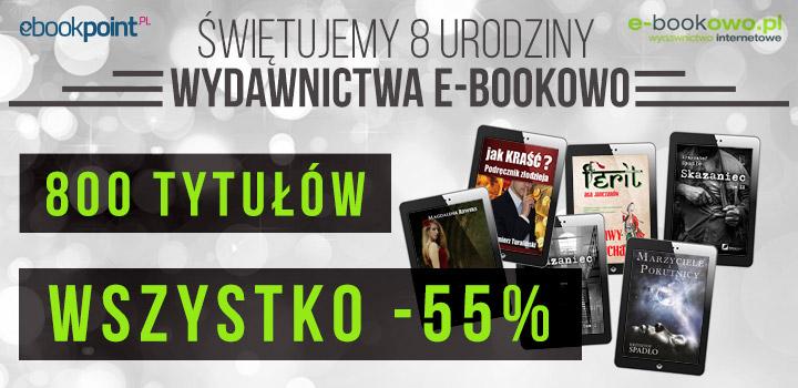 8 urodziny 800 ebooków -55% @ ebookpoint