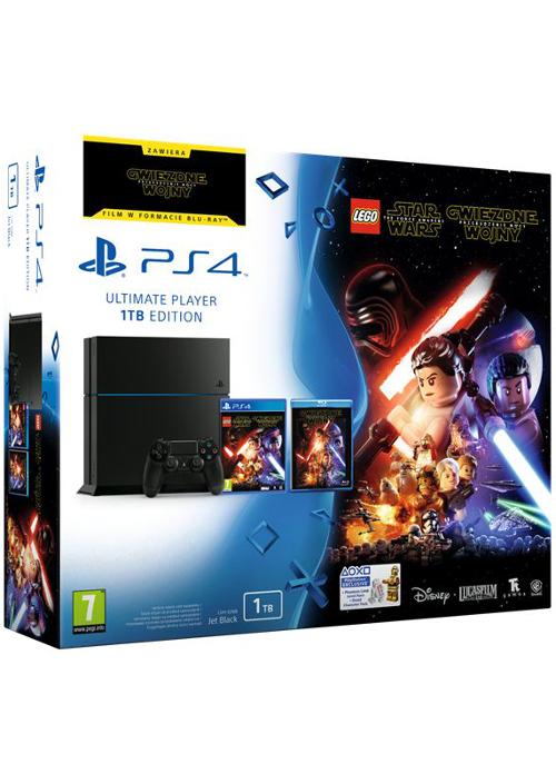 Playstation 4 1TB + Lego Gwiezdne Wojny: Przebudzenie mocy + Przebudzenie Mocy na Blu-Ray + 2 gry do wyboru za 1299zł @ Muve