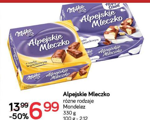 Alpejskie Mleczko Milka w cenie 6,99zł @ POLOmarket