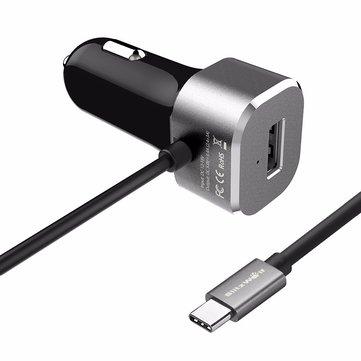 Ładowarka samochodowa BlitzWolf® 5V 5.4A USB Type C BW-C3