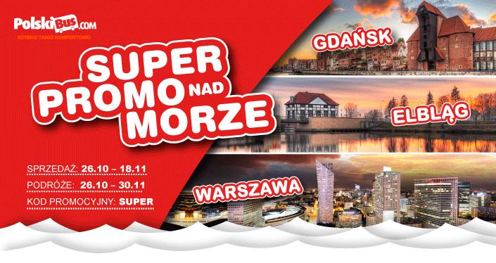 Polski Bus, 20 zł nad morze ! pomiędzy Warszawą i Gdańskiem
