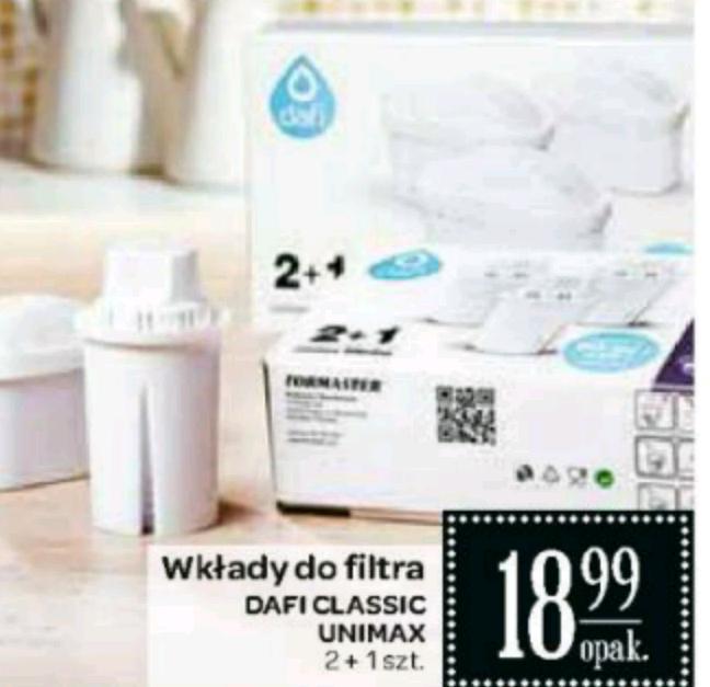 Wkłady filtrujące Dafi Classic, Unimax, opakowanie 3szt. @Carrefour