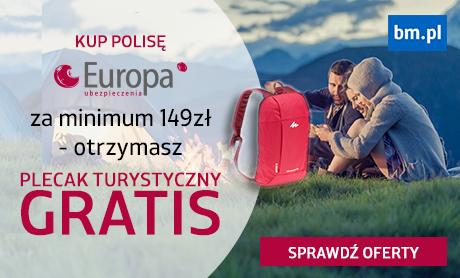 Kup ubezpieczenie turystyczne TU Europa za minimum 149 zł, a otrzymasz plecak