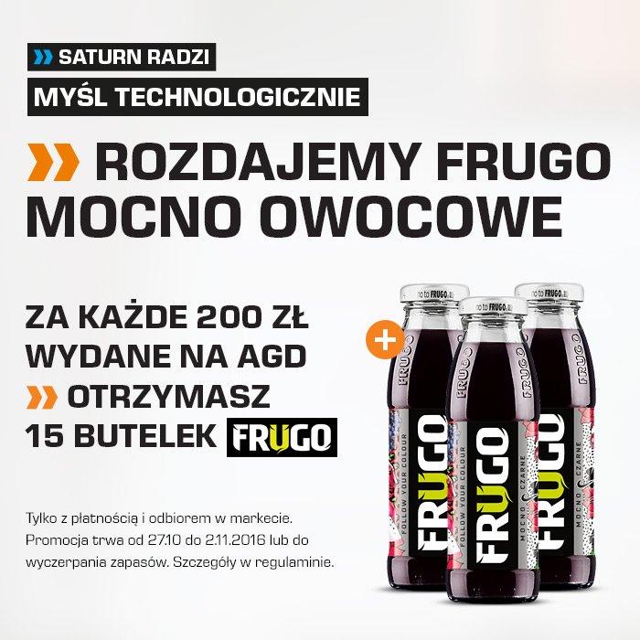 15 butelek Frugo za każde 200PLN wydane na zakupy AGD @ Saturn