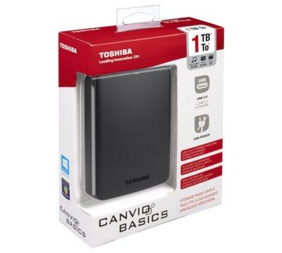 Dysk zewnętrzny TOSHIBA Canvio Basics 1 TB USB 3.0 za 199PLN (przecena z 249PLN) @ Media Markt