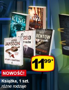 Kryminały za 11,99 zł (Anna Jansson, Je Nesbo, Stephen King i inni) @ Żabka